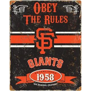 San Francisco Giants Embossed Metal Sign