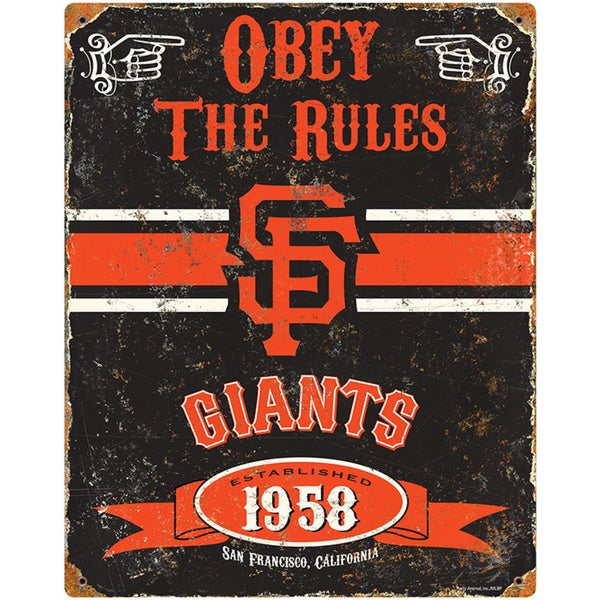 San Francisco Giants Embossed Metal Sign