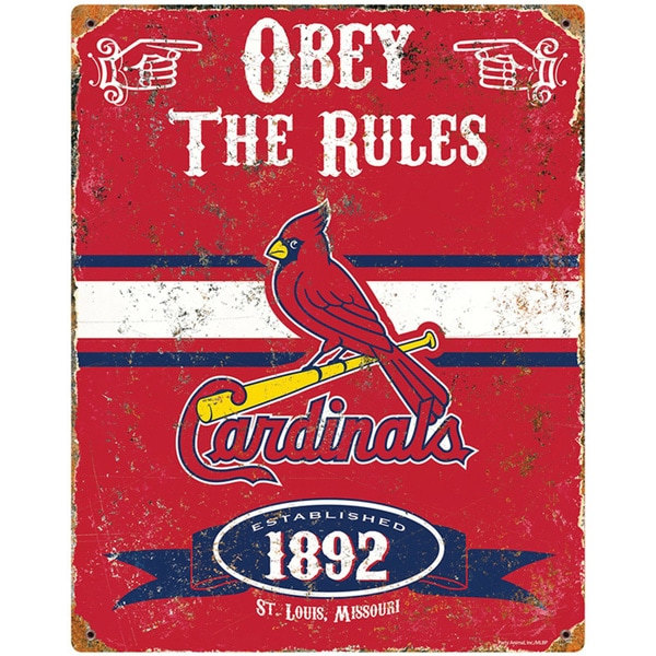 St. Louis Cardinals Embossed Metal Sign