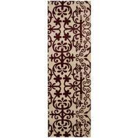 Herat Oriental Indo Hand-tufted Tibetan Wool Runner (2'6 x 8') - 2'6 x 8'