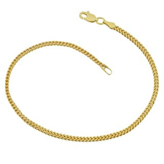 Fremada 10k Yellow Gold 1.9-mm High Polish Franco Link Bracelet (7.5 inches)