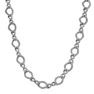 Argento Italia Sterling Silver 6.15-mm Alternative Infinity and Fancy Link Necklace (18 inches)