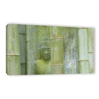 ArtWall Cora Niele's Bamboo Buddha Green Gallery Wrapped Canvas