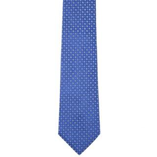 Davidoff 100-percent Silk Blue/ Silver Dot Neck Tie