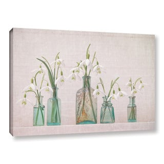 ArtWall Cora Niele's Snowdrops Bottles Gallery Wrapped Canvas