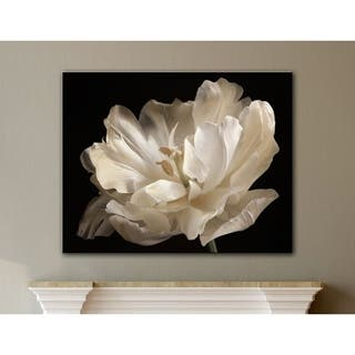 ArtWall Cora Niele's White Tulip Gallery Wrapped Canvas|https://ak1.ostkcdn.com/images/products/11426169/P18388355.jpg?impolicy=medium