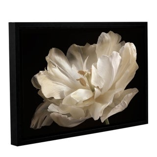 ArtWall Cora Niele's White Tulip Gallery Wrapped Floater-framed Canvas