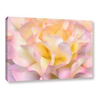ArtWall Cora Niele's Pink Yellow Rose Gallery Wrapped Canvas