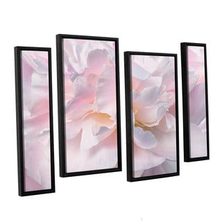 ArtWall Cora Niele's Peony Macro II 4-piece Floater Framed Canvas Staggered Set