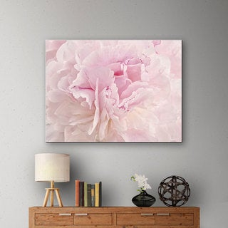 ArtWall Cora Niele's Peony Macro Gallery Wrapped Canvas