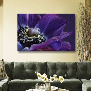 ArtWall Cora Niele's Indigo Anemone Gallery Wrapped Canvas