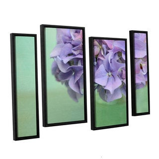 ArtWall Cora Niele's Hydrangea Still Life 4-piece Floater Framed Canvas Staggered Set