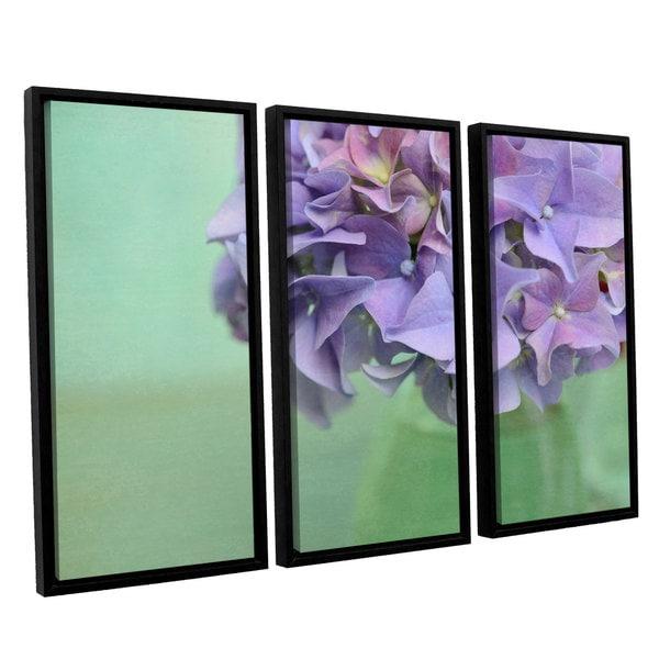 ArtWall Cora Niele's Hydrangea Still Life 3-piece Floater Framed Canvas Set