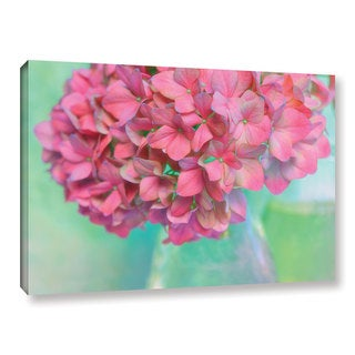 ArtWall Cora Niele's French Hydrangea Glass Gallery Wrapped Canvas