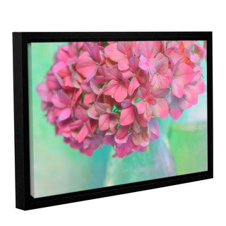 ArtWall Cora Niele's French Hydrangea Glass Gallery Wrapped Floater-framed Canvas
