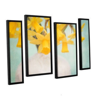 ArtWall Cora Niele's Daffodils 4-piece Floater Framed Canvas Staggered Set