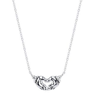 Disney Sterling Silver Mickey Mouse Heart Necklace|https://ak1.ostkcdn.com/images/products/11426395/P18388467.jpg?impolicy=medium