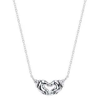 Disney Sterling Silver Mickey Mouse Heart Necklace