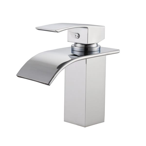 Shop sumerain single hole waterfall bathroom faucet free shipping today 11426579 for Single hole waterfall bathroom faucet