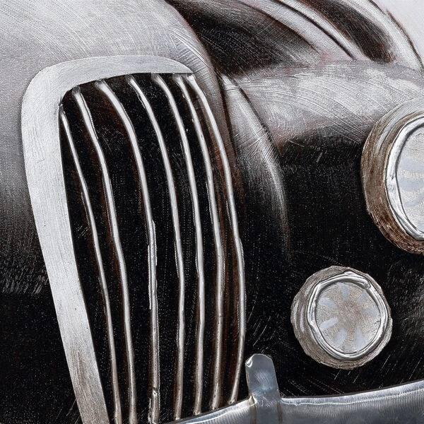 Shop Y-Decor 40 x 40-inch 'A Classic Car' Shades of Grey and