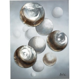 Floating Shimmering Circles 3D Effects Canvas Artwork
