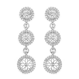Olivia Leone Sterling Silver 7/8ct TDW Diamond Earrings (I-J, I2-I3)