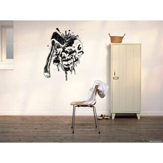 Halloween Zombie The ax head Wall Art Sticker Decal
