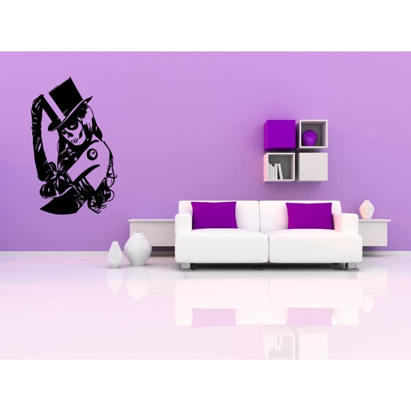 Halloween Zombie Girl Wall Art Sticker Decal