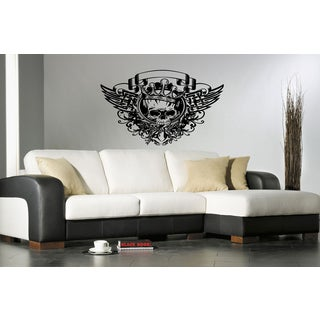 Picture Skull wearing a crown and wings Wall Art Sticker Decal