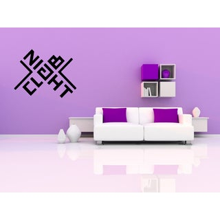 Night Club Inscription Wall Art Sticker Decal