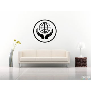 Planet Earth in hand Wall Art Sticker Decal