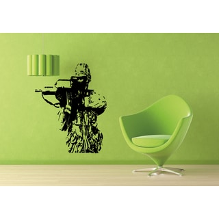 Weapons in the hands of American soldiers Wall Art Sticker Decal