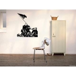 Pride Marines Soldiers and American flag Wall Art Sticker Decal