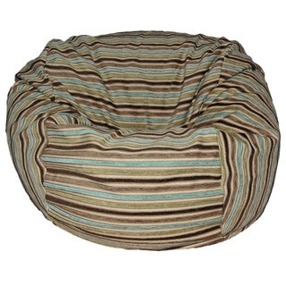 Chenille Stripes Coastal 36-inch Wide Washable Bean Bag Chair