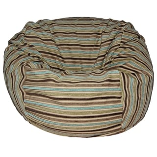 Chenille Stripes Coastal 36-inch Wide Washable Bean Bag Chair