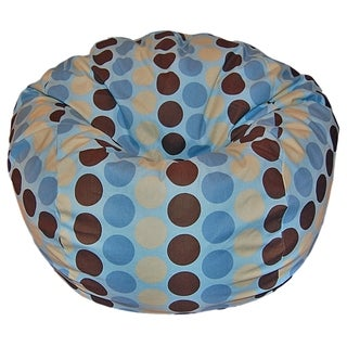 Madison Dots 36-inch Wide Cotton Washable Bean Bag Chair