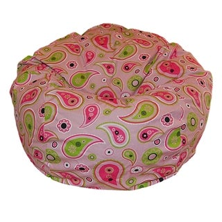 Pretty Paisley Cotton 36-inch Wide Washable Bean Bag Chair