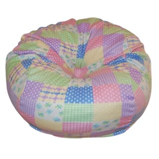 Anti-Pill Pastel Patches Fleece Washable Bean Bag Chair