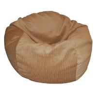 Tan Corduroy 36-inch Wide Wale Washable Bean Bag Chair