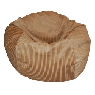 Tan Corduroy 36-inch Wide Wale Washable Bean Bag Chair