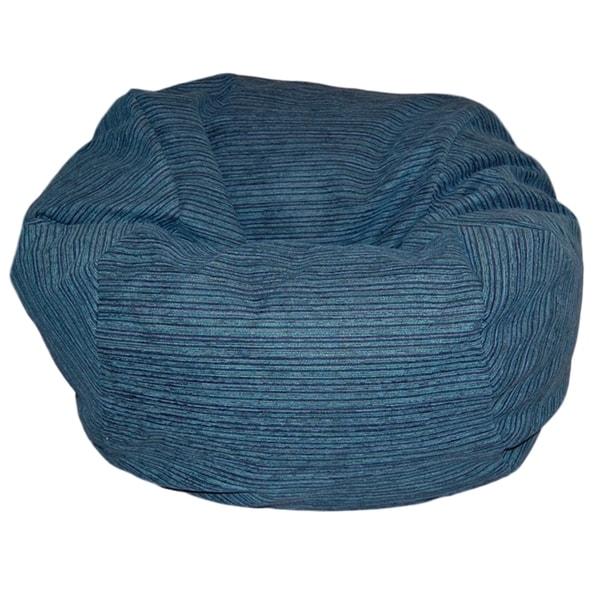 Chenille Stripes Lagoon 36-inch Washable Bean Bag Chair ...