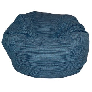 Chenille Stripes Lagoon 36-inch Washable Bean Bag Chair