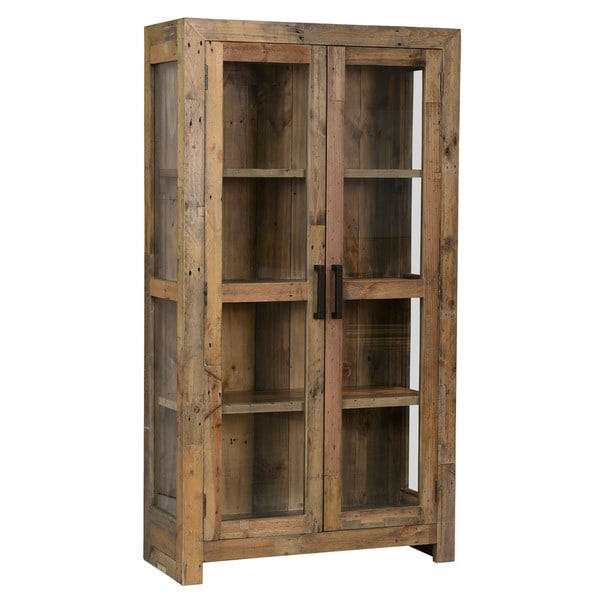Kosas Home Oscar Natural 2-Door Curio Cabinet - Deals ...