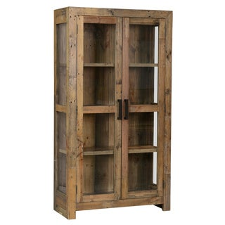 Oscar Natural Reclaimed Wood Curio Cabinet by Kosas Home