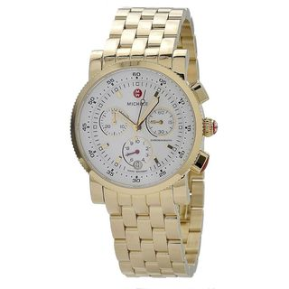 Michele Women's MWW01C000106 'Sports Sail' Chronograph Gold-Tone Stainless Steel Watch