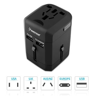 INSTEN Universal Lightweight 2-Port USB World Travel Charger (2 options available)