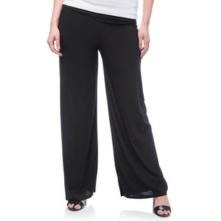 JED Women's Plus Size Wide Leg Palazzo Pants