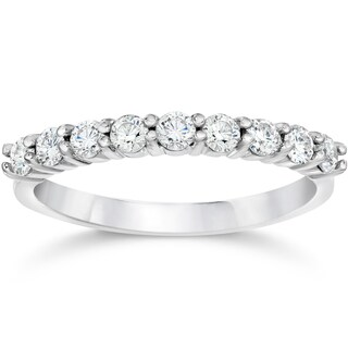 14k White Gold 1/2ct TDW Eco Friendly Lab Grown Diamond Wedding Stackable Ring (More options available)
