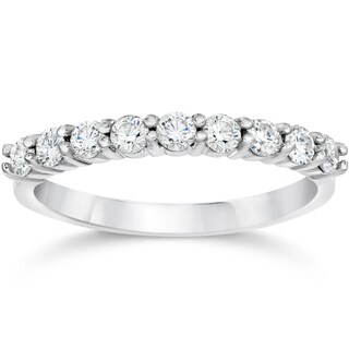 14k White Gold 1/2ct TDW Eco Friendly Lab Grown Diamond Wedding Stackable Ring