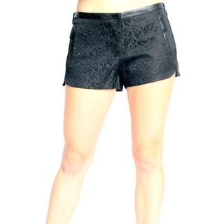 Sara Boo Solid Floral Print Shorts